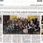 Písecký deník 12.2.2016, 40 let VCC Písek